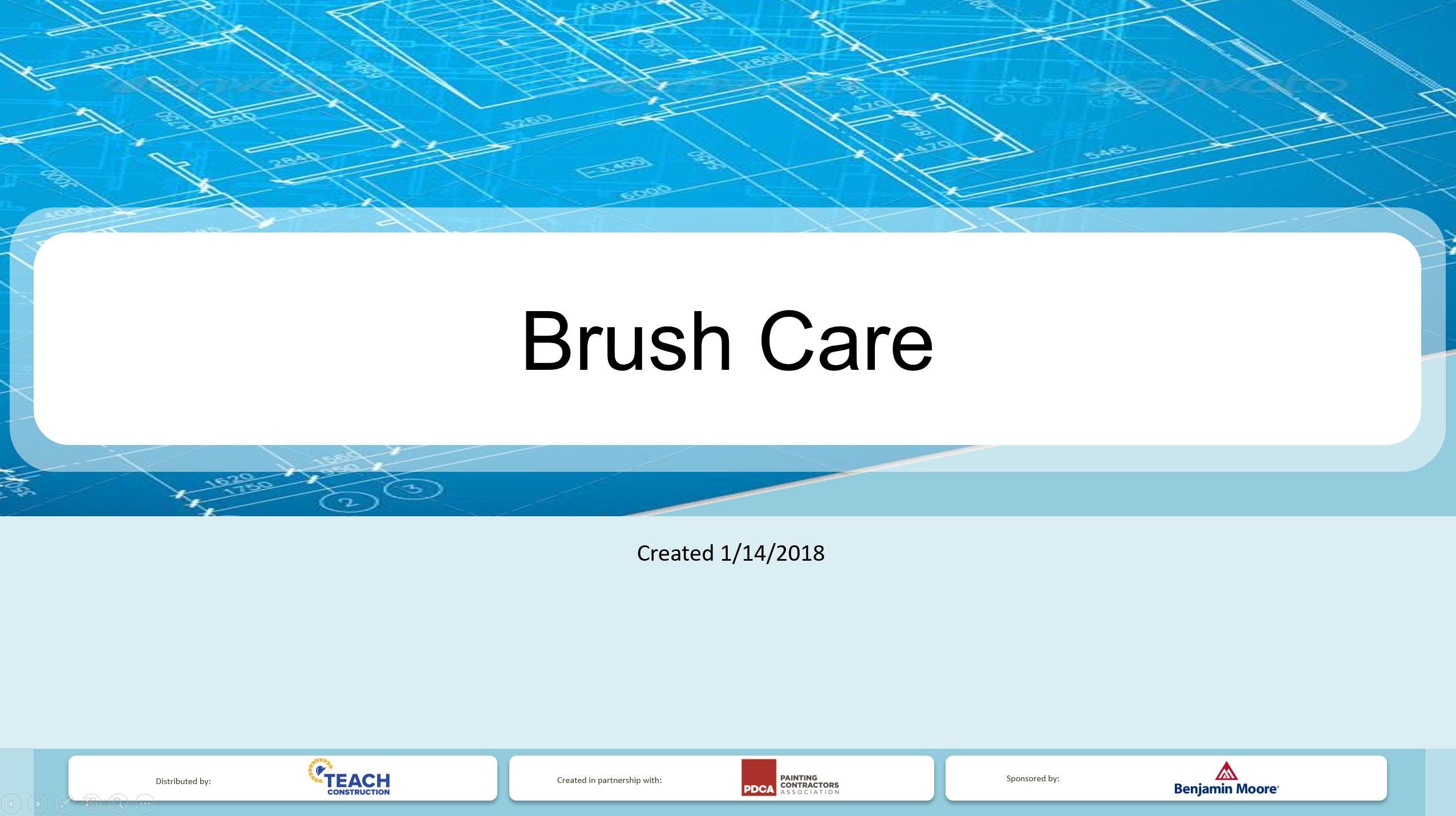Paint Brush Care - Presentation Image