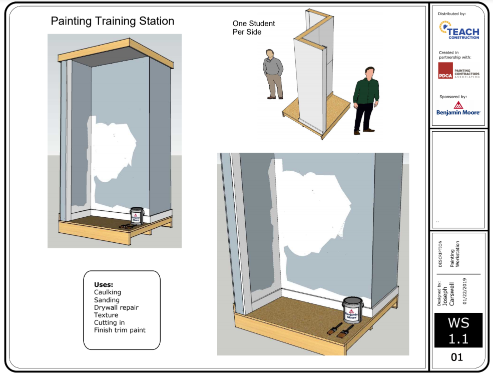 Painting Work Station Plans Image