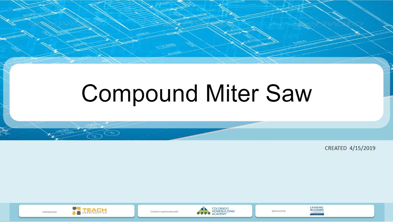 Miter Saw - Presentation Image