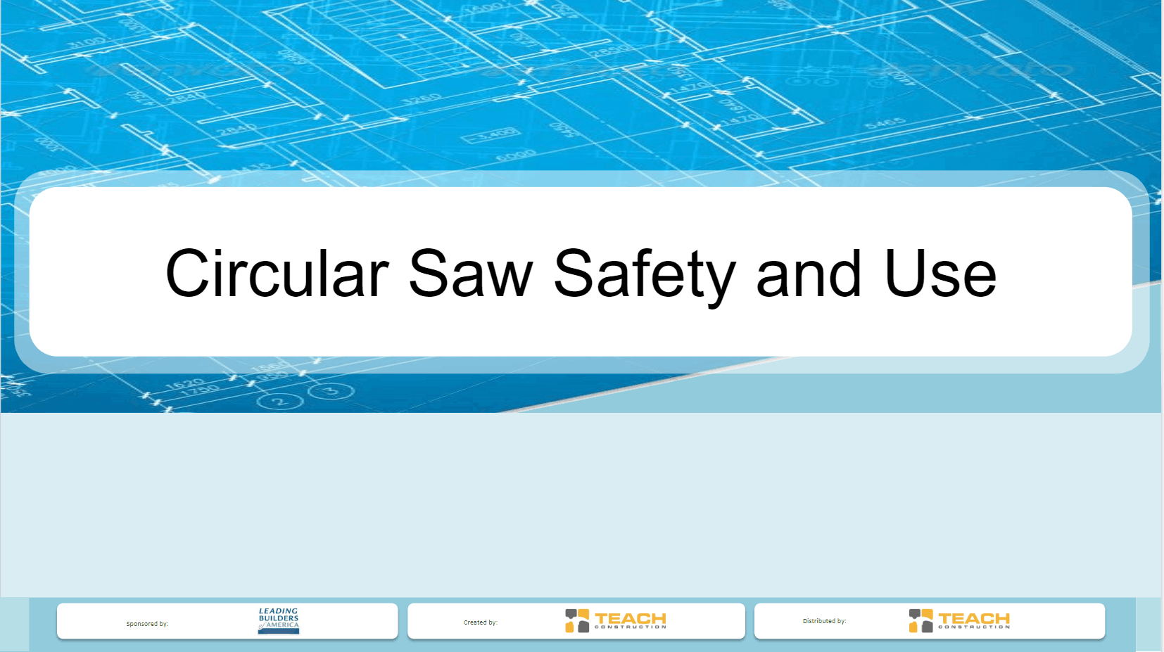 Circular Saw Safety and Use Presentation Image