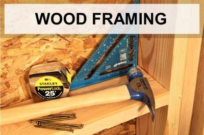 top wood framing